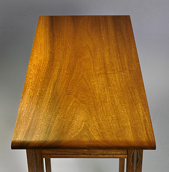Honduras Mahogany Writing Table with Ebony and Pewter — Todd ...